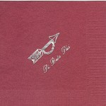 Pi Beta Phi Napkin, Wine, SilverFoil Arrow (pin), Font #5