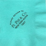 Napkin, Aqua, Black Foil, Pi Beta Phi & Co