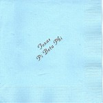 Napkin, Light Blue, Wine Foil, Font Park Ave, Pi Beta Phi