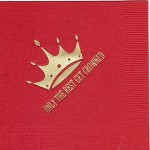 Napkin, Red, Gold Foil Crown #4, Only the Best Get Crowned, Font Special, Zeta Tau Alpha