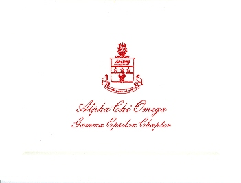 Alpha Stationery – Alpha Chi Omega Thermography Fold-over