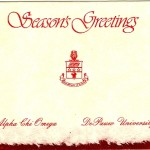 Season's Greeting,  Red Foil Insert, Alpha Chi Omega