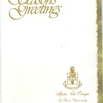 Season's Greeting, Gold,Foil Insert, Vertical Orientation, Alpha Chi Omega
