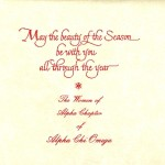 Seasons Greetings Inside Message, Font #5, Alpha Chi Omega