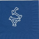 Napkin, Dark Blue, White Foil DG Outline, Delta Gamma