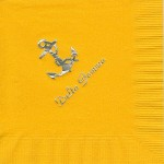 Napkin, Sunflower Yellow, Silver Foil Anchor (nat) & Delta Gamma, Delta Gamma