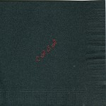 Napkin, Black with Red Foil, Font Park Ave, Kappa Alpha Theta