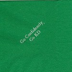 Napkin, color discontinued, White Foil, Font Garamond, Kappa Delta