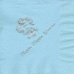 Napkin, color discontinued Silver Foil Crest, Font PA, Kappa Kappa Gamma