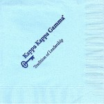 Napkin, Light Blue, Dark Blue Ink, Tradition of Leadership, Kappa Kappa Gamma