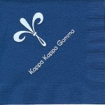Napkin, Dark Blue, white foil new fleur de lis, Font special, Kappa Kappa Gamma