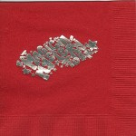 Napkin, Red, Silver Foil, Magical Mystery Tour Sigma Delta Tau