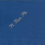 Napkin, Dark Blue, Gold Foil Pi Beta Phi, Font #8, Pi Beta Phi