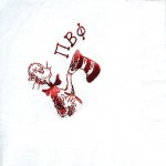 Napkin, white, Red Foil Cat in Hat, Pi Beta Phi