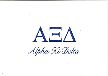 alpha xi delta thermography fold over cards alpha xi delta note