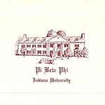 Pi Beta Phi note card, wine thermography (raised print) Font #10
