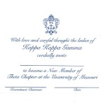 1-color ink flat panel card, R.Blue Ink, Font #9, Kappa Kappa Gamma