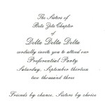 Inside Message, Preference Party Invite Card Font #5